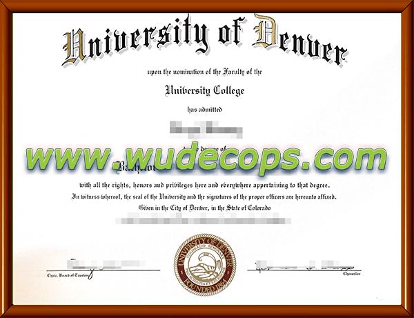 丹佛大学毕业证购买