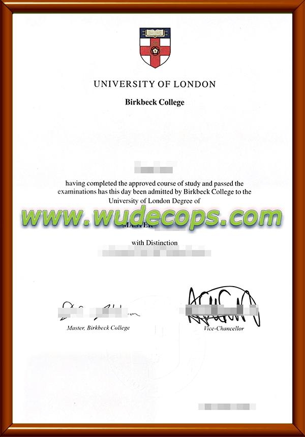 伦敦大学伯贝克学院毕业证购买