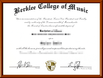 Berklee毕业证购买