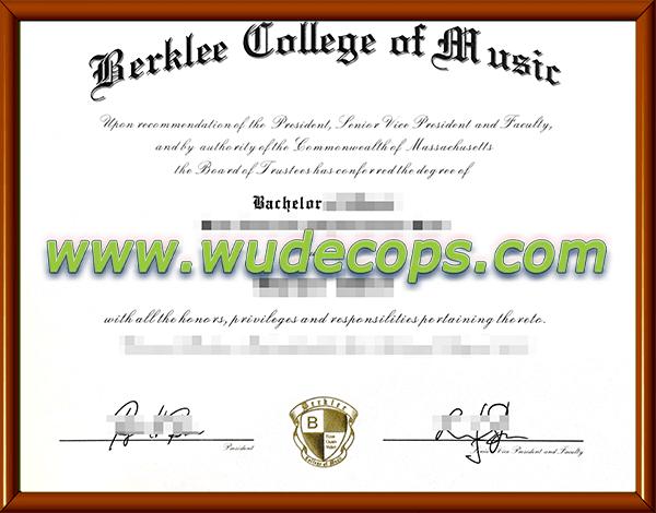 伯克利音乐学院毕业证购买