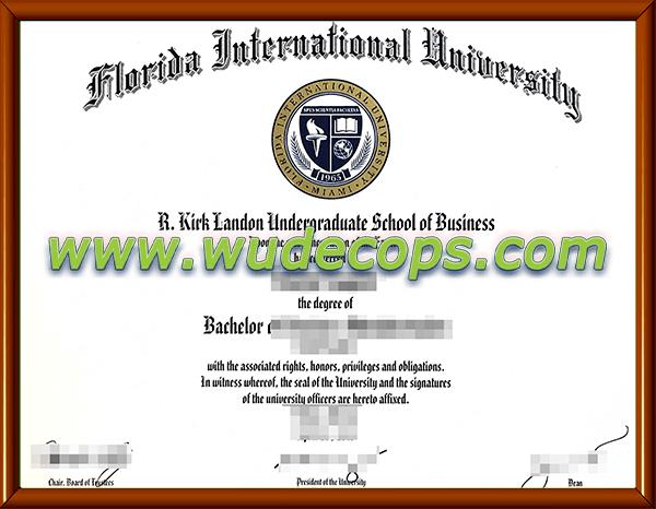 佛罗里达国际大学毕业证购买
