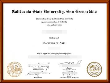 办理加州州立大学圣贝纳迪诺分校毕业证