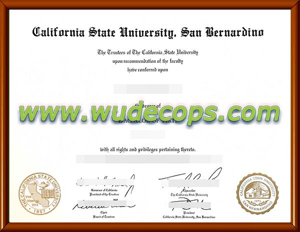 CSUSB毕业证购买