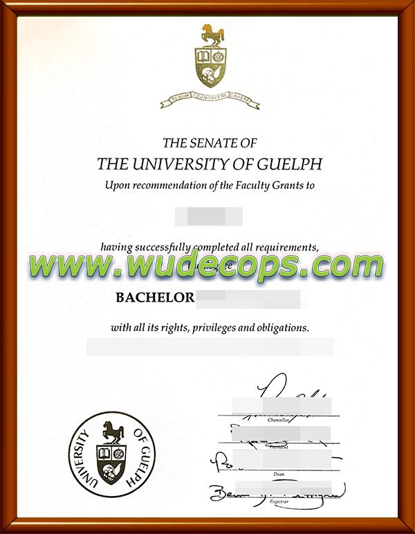 圭尔夫大学毕业证购买