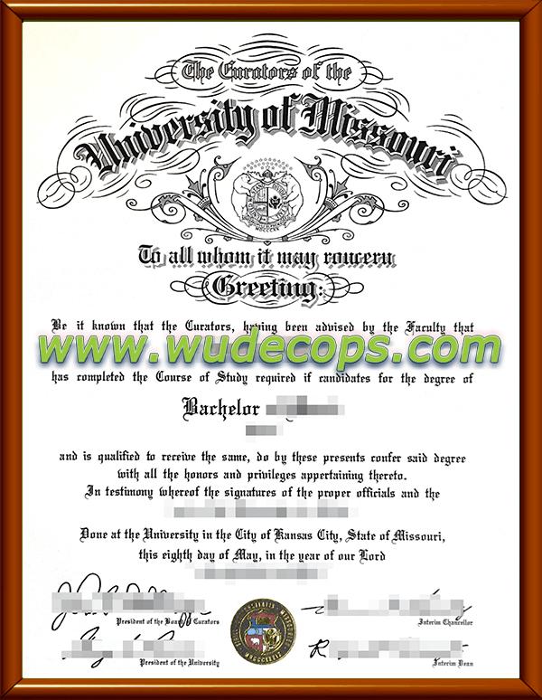 密苏里大学毕业证购买