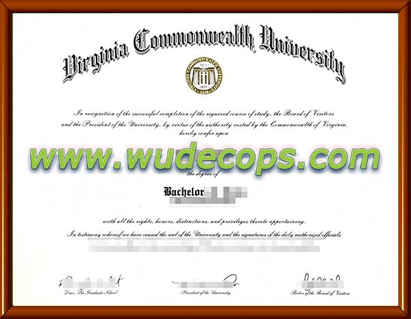 弗吉尼亚联邦大学毕业证购买