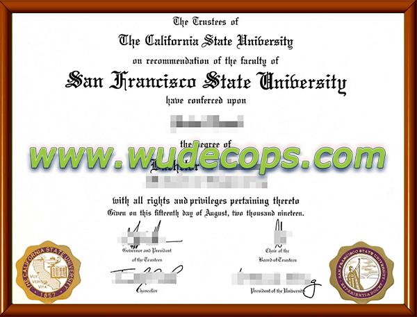 旧金山州立大学毕业证购买