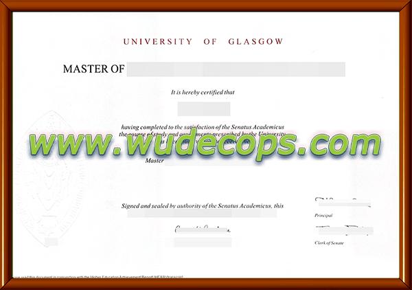 格拉斯哥大学毕业证购买
