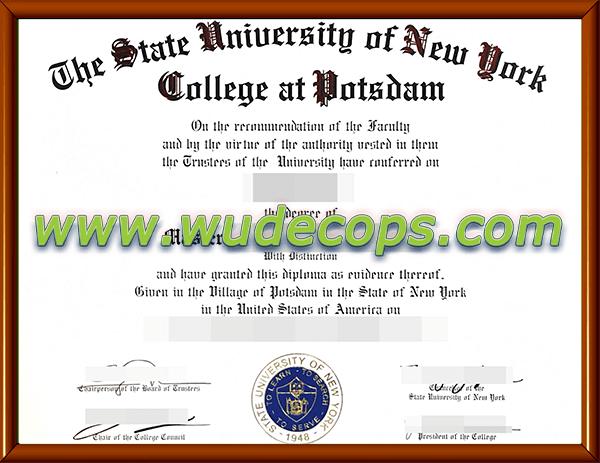 纽约州立波茨坦毕业证购买