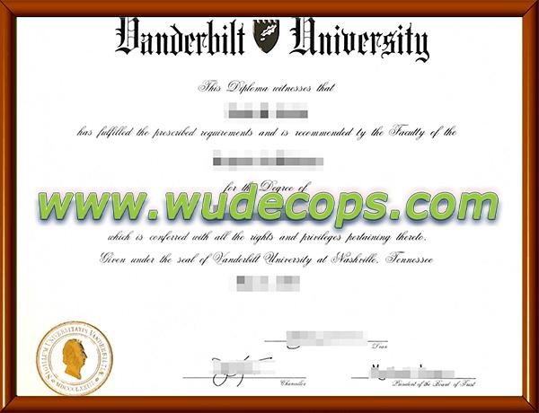 范德堡大学毕业证购买