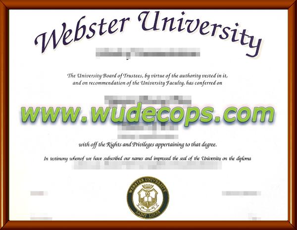 韦伯斯特大学毕业证购买