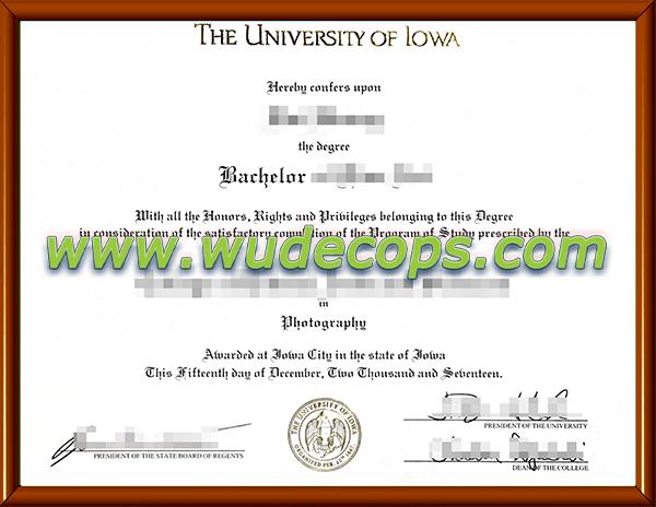 爱荷华大学毕业证购买