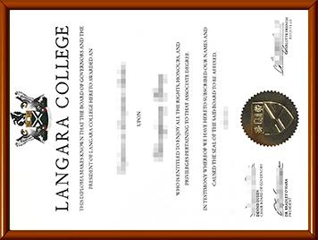 兰加拉学院毕业证办理