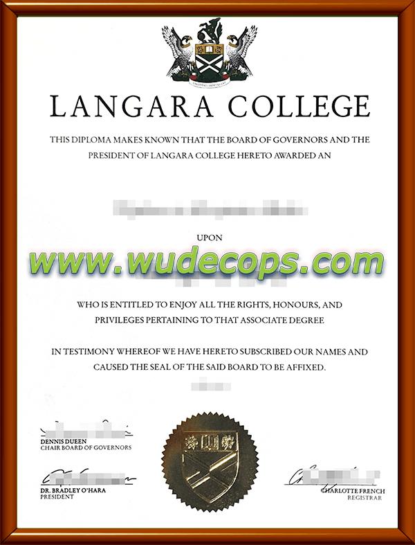 兰加拉学院毕业证购买