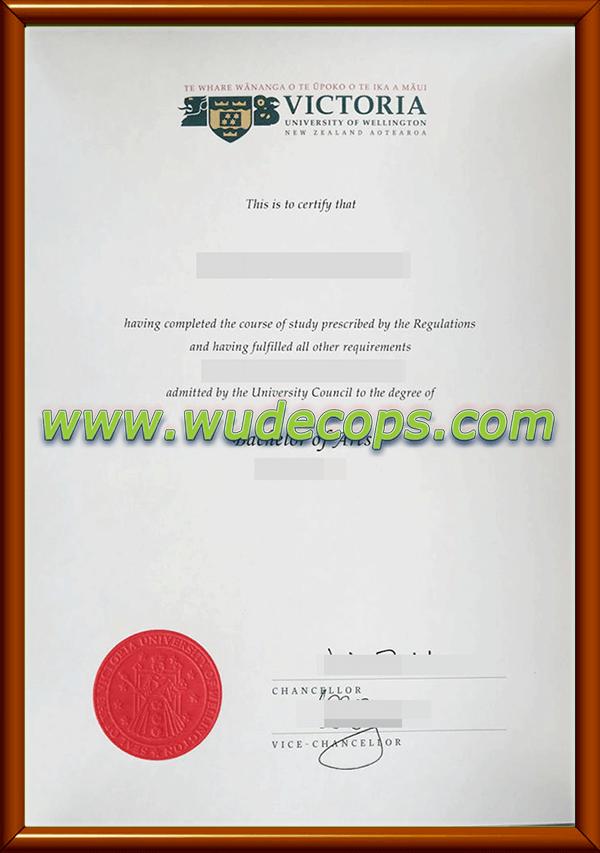惠灵顿维多利亚大学毕业证购买