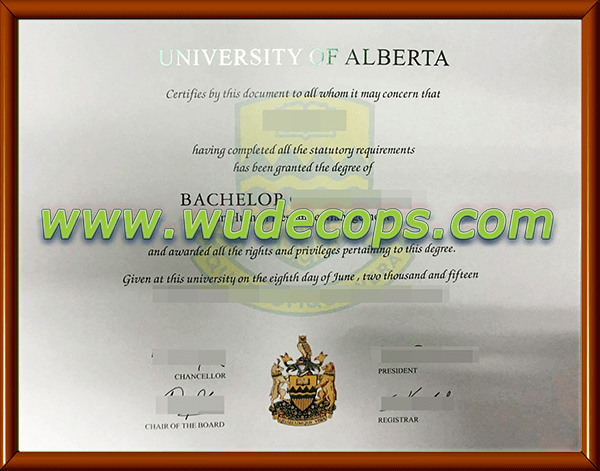 购买阿尔伯塔大学毕业证