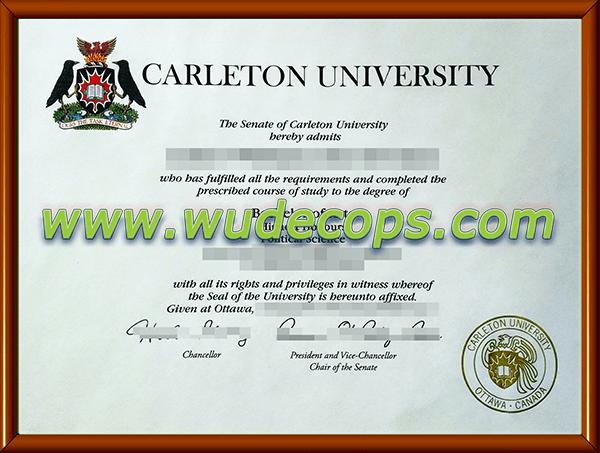 卡尔顿大学毕业证购买