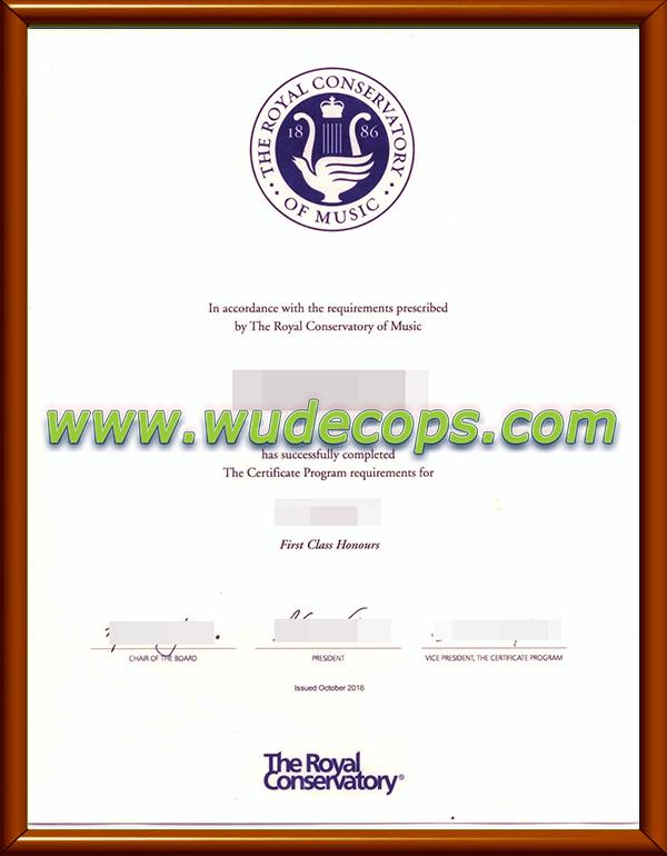 多伦多皇家音乐学院毕业证购买