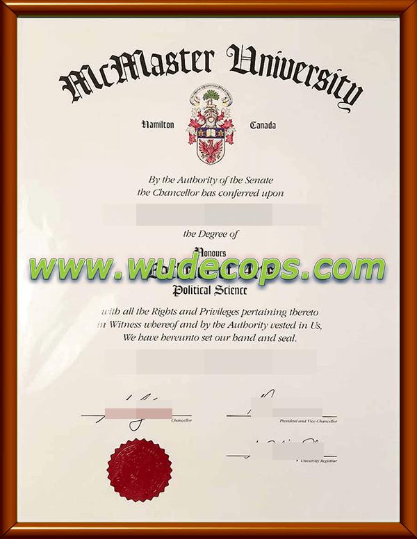 麦克马斯特大学毕业证购买