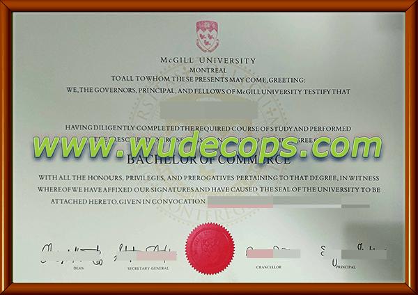 麦吉尔大学毕业证购买