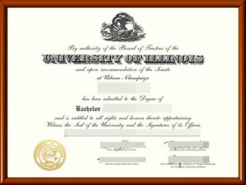 伊利诺伊大学厄香槟分校毕业证办理