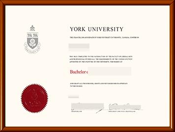 约克大学毕业证办理