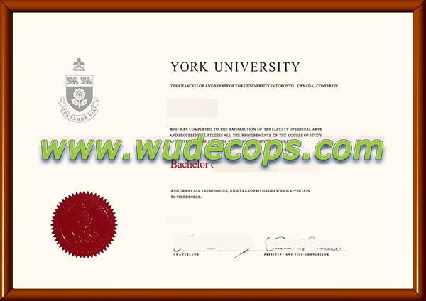 约克大学毕业证购买